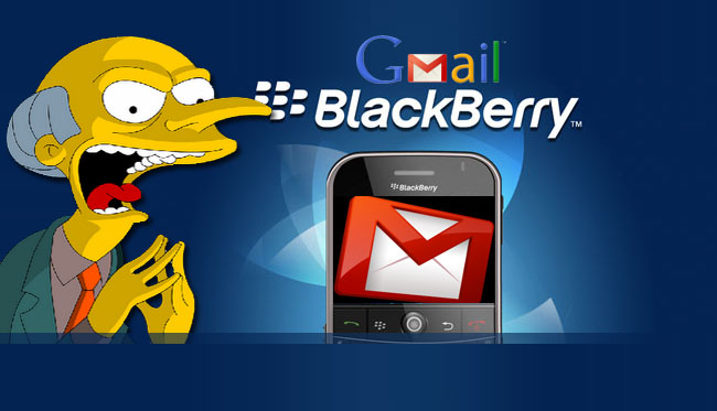 how to get gmail on blackberry